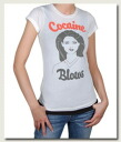 Rakuten champions sale, victory Memorial セールローカルセレブリティ ladies T shirt Cocaine Blows T-shirt White