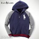 ★ 2014 new fall! Polo Ralph Lauren boys Raglan hoodies Hoodie Cotton Fleece Full-Zip French Navy (POLO RALPH LAUREN) (45061766) (S, M, L, XL) (over 10,800 yen, who, in large size, 100% genuine, new, cheapest Rakuten to challenge! )