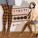 Argyle tights Argyle tights bulky? [M-L] and [gusset] Argyle pattern ニットタイツ diamond pattern tights tights tights tights bulky