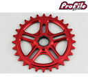 PROFILE RACING profile racing bicycle pist bike sprocket SPLINE DRIVE SPROCKET 28T: RED 05P30Nov13