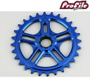 PROFILE RACING プロファイルレーシング bike fixie sprocket SPLINE DRIVE SPROCKET 28T:BLUE