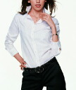 Thin line of two-color tint is the point. Recommended as a striped shirt collar to wear depends on