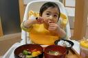 베이비 세트락(사내 아이용)・추석 첨부 키즈・식육・어린이용・기프트・선물・축・답례・식기 세트 fs04gm