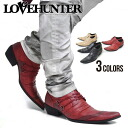 "All three colors of ""LOVE HUNTER pointed toe butter knife race up shoes / ""[black / camel / wine]"