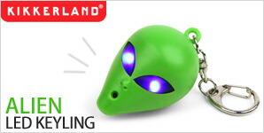 NOISY KEY LIGHT ALIEN LED KEYRING