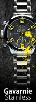 FrancTempsフランテンプス ガヴァルニ ステンレス メンズ腕時計