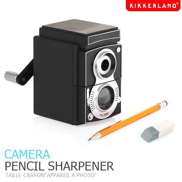 【KIKKERLAND】カメラペンシルシャープナー CAMERA PENCIL SHARPENER