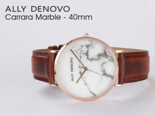 ALLY DENOVO  腕時計 Carrara Mable 40mm メンズ レディース