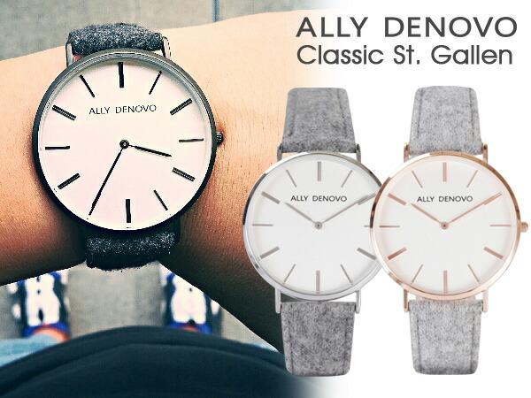 ALLY DENOVO  腕時計 Classic St. Gallen 40mm メンズ レディース