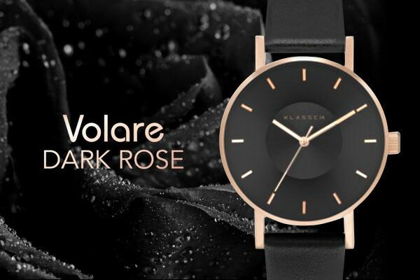 VOLARE DARKROSE レザーベルト 36mm 42mm レディース メンズ腕時計