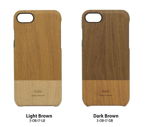 Kajsa カイサ iPhone7 outdoor Collection アウトドアコレクション wood pattern Backcase ウッドパターン バックケース