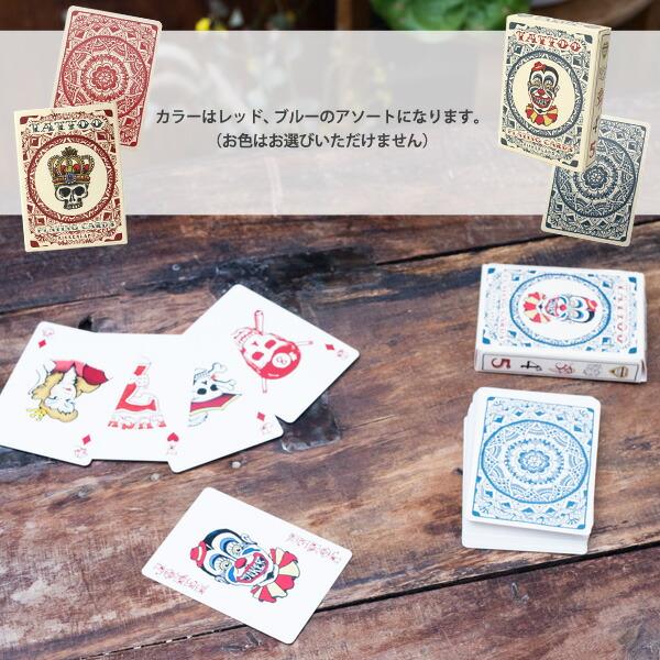 KIKKERLAND/キッカーランド Tatoo Playing Cards タトゥープレイングカード トラディショナルタトゥー柄 オールドスクールスタイル トランプ ドクロ