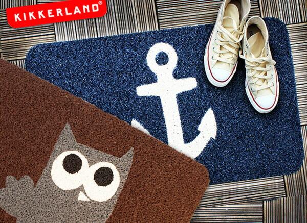 【KIKKERLAND/キッカーランド】 アンカー オウル ドアマット / Anchor Owl DOORMAT シンプルでユニークな玄関マット