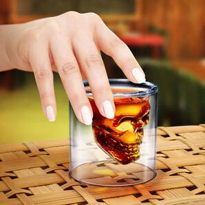 DOOMED SKULL GLASS / ヘッドショット スカルグラス