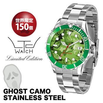 【リミテッドウォッチ】LTD0210130 LTD watch Stainless Steel GHOST CAMO model メンズ腕時計 ゴースト カモフラージュ 迷彩柄 送料無料