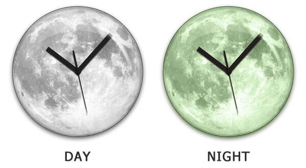 夜光・蓄光・満月・月・時計
