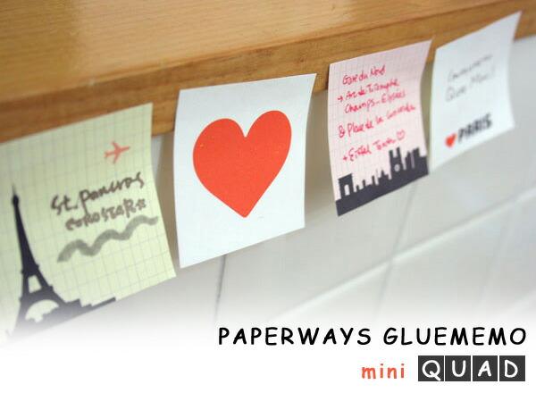 PAPERWAYS GLUEMEMO mini QUAD/ガルーメモ ミニカード