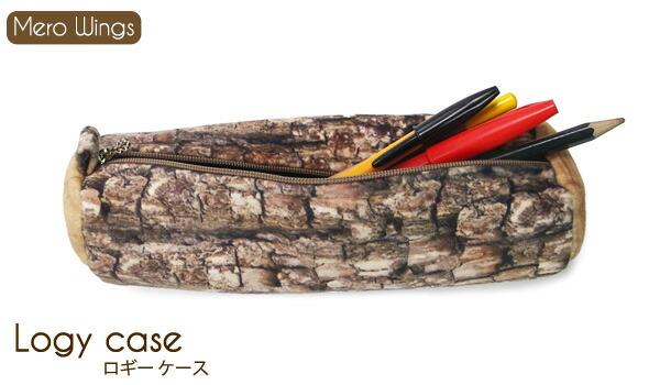 【Mero Wings/メロウィングス】logy case/ロギーケース リアルプリントポーチ ペンケース