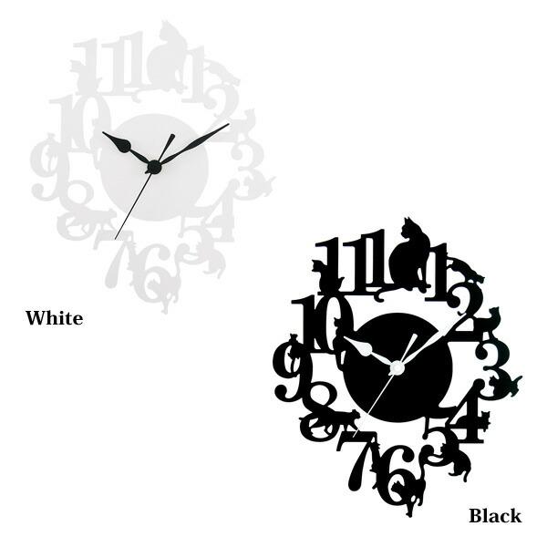 Cat Clock/掛け時計ネコ  猫 ねこ キャット