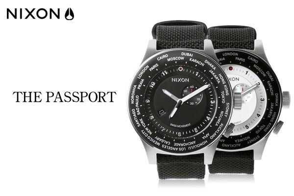 【NIXON/ニクソン:正規品】 THE PASSPORT パスポート アナログワールドタイムウォッチ