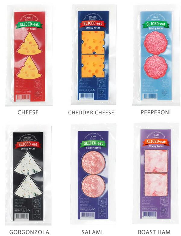 ハム チーズ 付箋 ふせん【MARSMERS】SLICED-eat mini フードスティッキーメモ ミニ