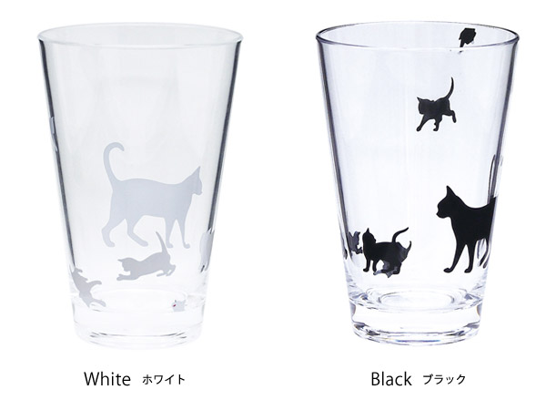 Abeille アクリルタンブラー Lサイズ ネコ キャット 猫 ねこ