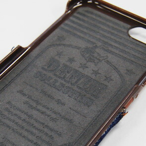 【Kajsa/カイサ】Denim collection デニムコレクション pocket back case ポケットバックケース for iPhone6(4.7inch)