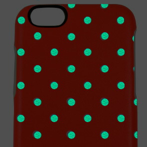 【Kajsa/カイサ】Neon Collection Polka dot Backcase  ドットパターン バックケース for iPhone6(4.7inch)蓄光 水玉