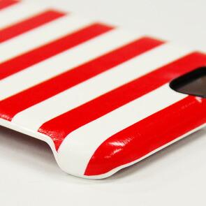 【Kajsa/カイサ】resort collection Backcase  ストライプパターンバックケース for iPhone6(4.7inch)