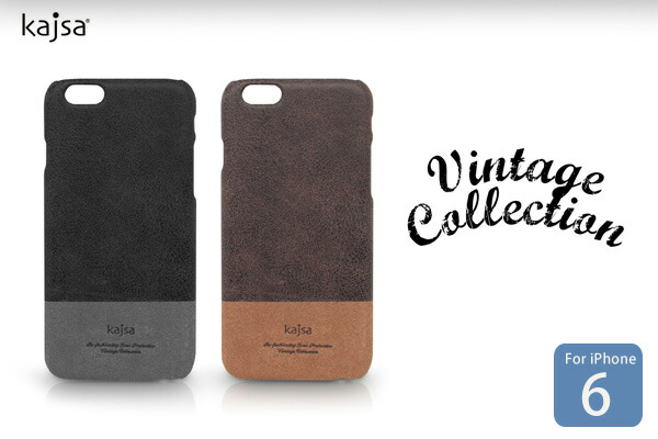 【Kajsa/カイサ】Vintage Collection Genuine Leather Back Case for iPhone6(4.7inch)本革