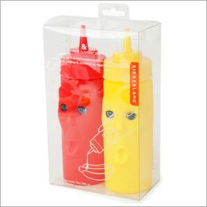 【KIKKERLAND/キッカーランド】Max&Morris Ketchup &Mustard/マックス&モリス ケチャップ&マスタード 調味料容器