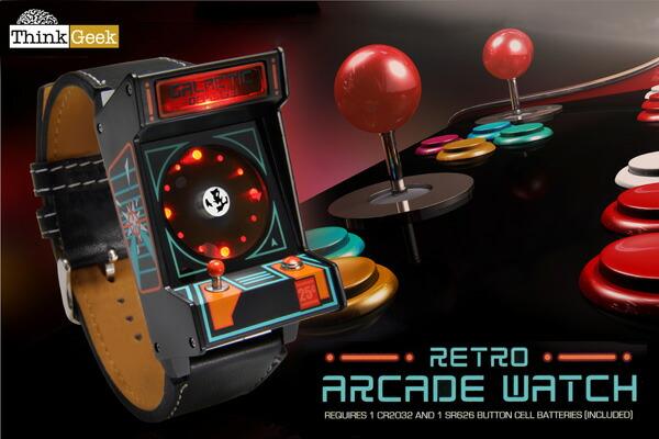 【Think Geek】レトロアーケードウォッチ/Classic Arcade Wristwatch