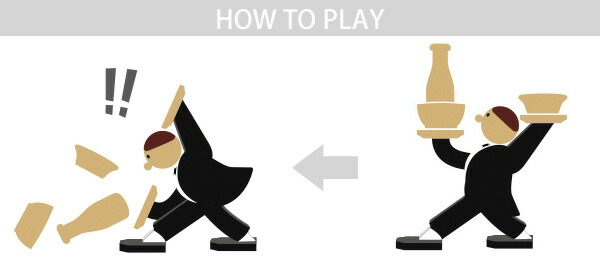 【KIKKERLAND/キッカーランド】スタッキングゲーム Don't tip THE WAITER!/ドントティップザウェイター バランスゲーム