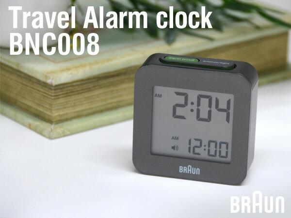BRAUN/ブラウン BNC008 アラームクロック 目覚まし時計