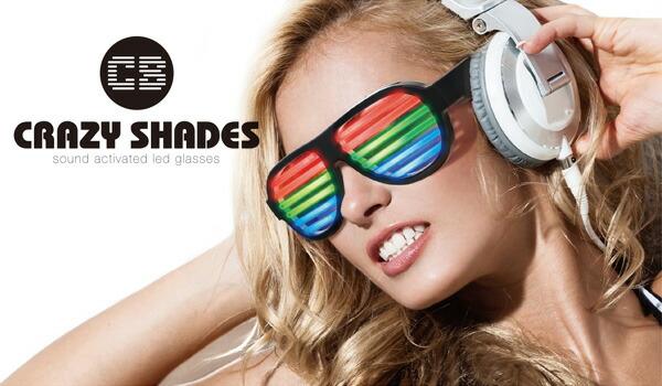 CLAZY SHADES/クレイジーシェード サウンドにあわせてLEDが発光する近未来系アイウェア