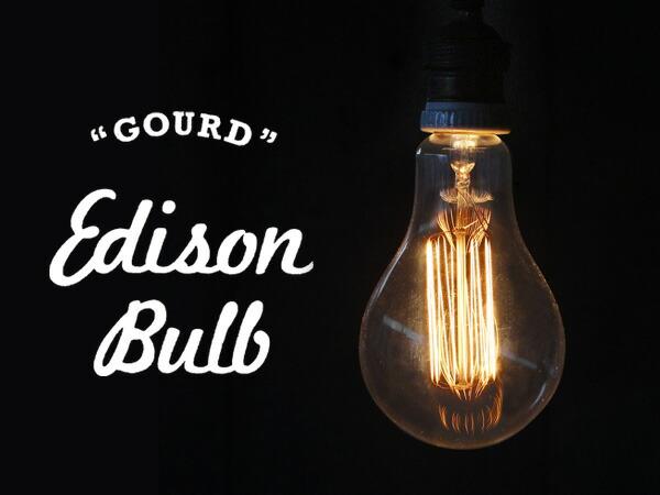 Edison Bulb Gourd /40W E26 エジソンバルブ