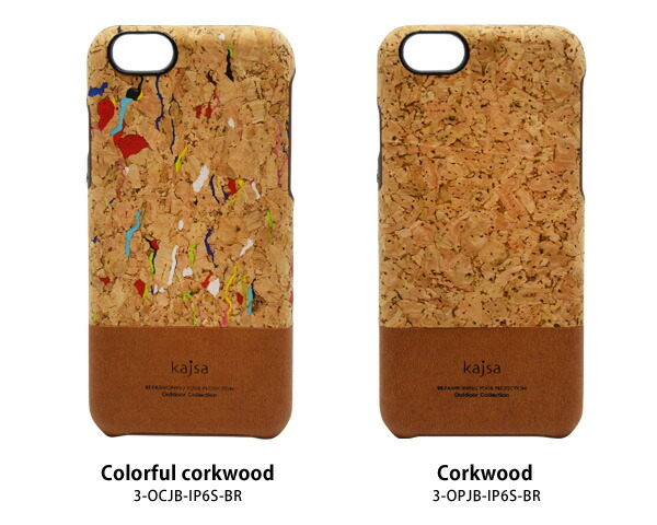 【Kajsa/カイサ】OUTDOOR COLLECTION corkwood series Backcase for iPhone6(4.7inch)バックケース