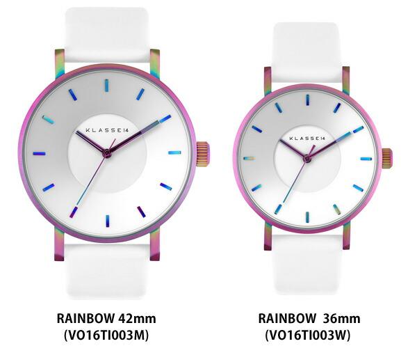 VOLARE RAINBOW WHITE 36mm 40mm レディース メンズ 腕時計