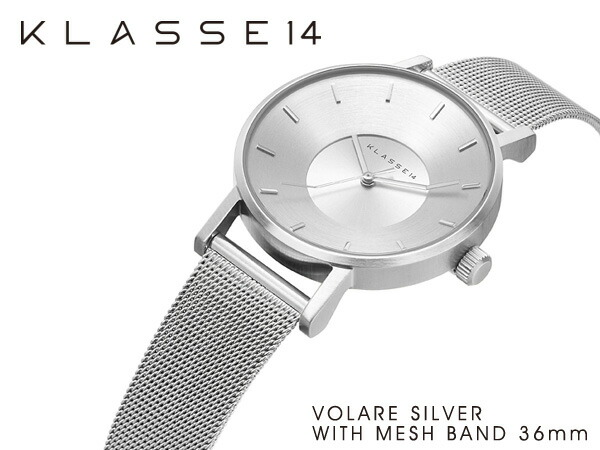 VOLARE SILVER WITH MESH BAND �ӻ��� ���ƥ�쥹 ��å���٥�� VO14SR002W ��ǥ�����