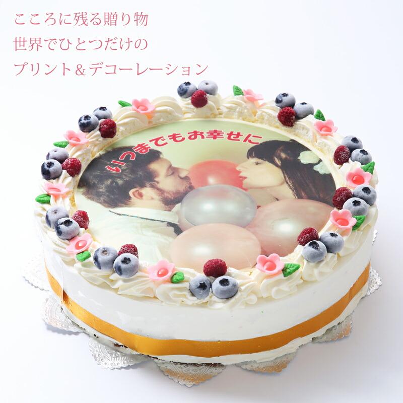ホール型の写真ケーキ10号サイズです
