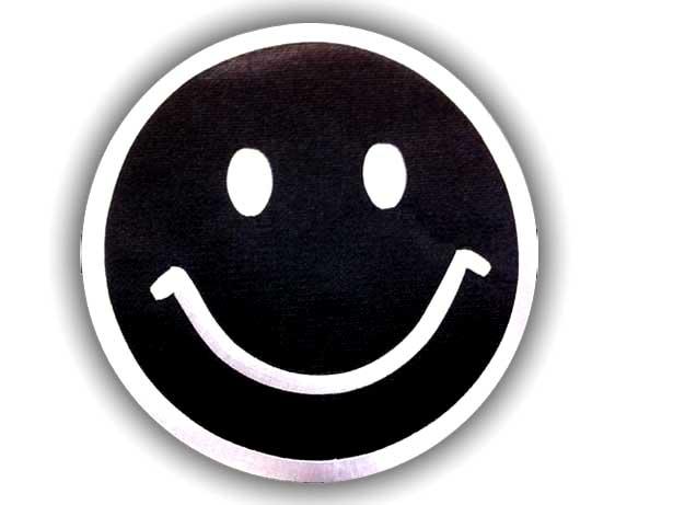 qq头像笑脸黑白