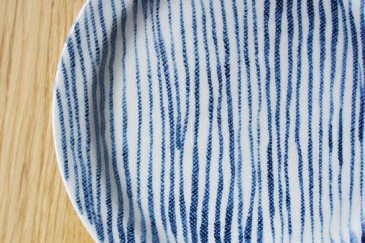 Bread and Rice (パンとごはんと...) 美濃焼 敏山窯 しましまのお皿 菱沼未央さん カラーバリエーション全2色