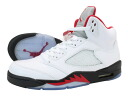 NIKE AIR JORDAN 5 RETRO Nike Air Jordan 5 retro WHITE/FIRE RED/BLACK