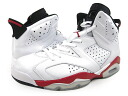 NIKE AIR JORDAN 6 RETRO Nike Air Jordan 6 retro WHITE/RED fs3gm