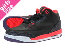 NIKE AIR JORDAN 3 RETRO GS Nike Air Jordan 3 retro GS BLACK/BRIGHT CRIMSON/CNYN PURPLE