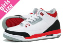 NIKE AIR JORDAN 3 RETRO GS Nike Air Jordan 3 retro GS WHITE/FIRE RED/BLACK