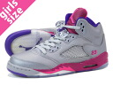NIKE AIR JORDAN 5 RETRO GS Nike Air Jordan 5 retro GS GREY/PINK/PURPLE