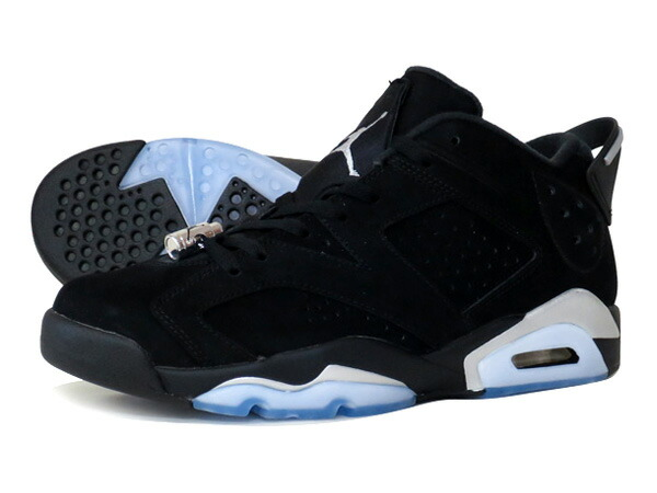 NIKE AIR JORDAN 6 RETRO LOW BLACK/METALLIC SILVER/WHITE