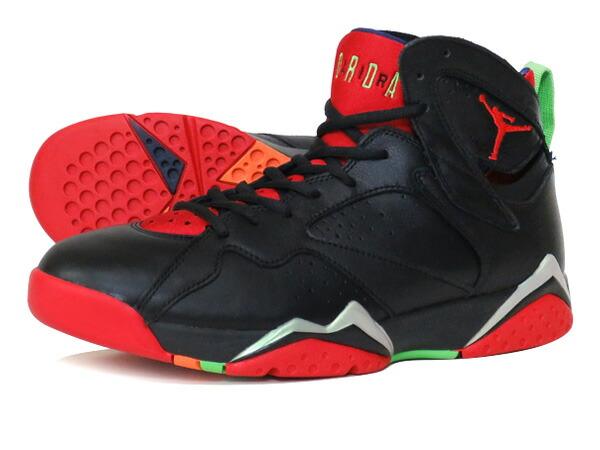 NIKE AIR JORDAN 7 RETRO BLACK/UNIVERSITY RED/GREEN/GREY ��MARVIN THE