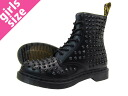 Dr. 8 8 Martens EYELET SPIKE doctor Martin hall BLACK SMOOTH
